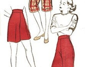 Vintage 40s High Waist Shorts Clam Diggers Trousers Pants REPRO Sewing Pattern W28 104