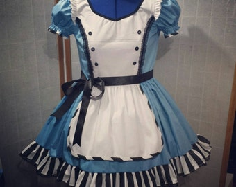 Lolita babydoll gothic Alice in wonderland cosplay dress