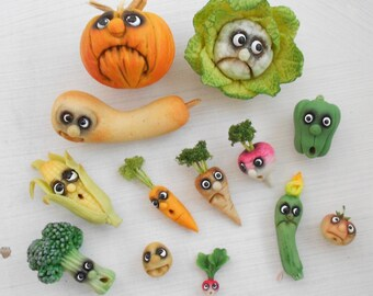 Fantasy vegetables with face  - small pumpkin