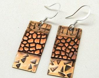 Mix metal jewelry earrings.Steampunk jewelry earrings.