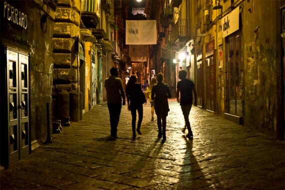 Date Night in Naples  Archival Print