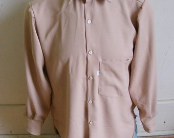 Gaberdine Shirt Tan M Hermans USA
