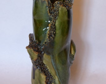 "Vase ""Green waterfall"""