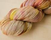 Hand Dyed Sock Yarn - Merino, Cashmere, & Nylon - Fingering Weight - Lush - Tea Time