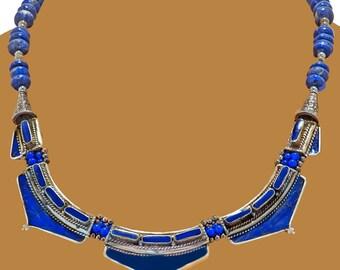 Nepali 'Art Deco' style Lapis Necklace