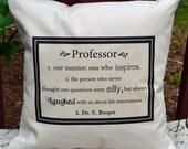 Teachers Gift, Mentor gift, Professor gift, Preschool teacher gift,  Personalized pillow - teacher appreciation- teacher gift idea,