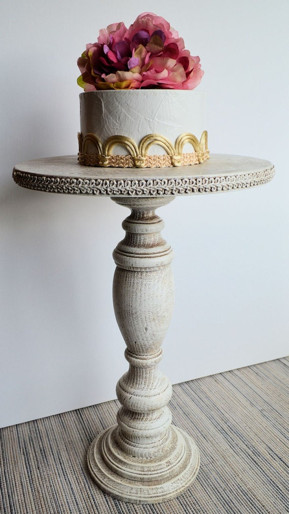 tall wedding cake stand items similar to rustic cake pedestal stand 17 5 20744