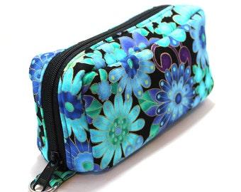 Essential Oil Case Holds 10 Bottles Essential Oil Bag Gold Trimmed Blue Floral