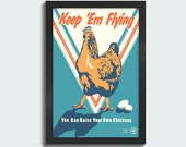 Keep 'Em Flying - 12x18 screen print poster