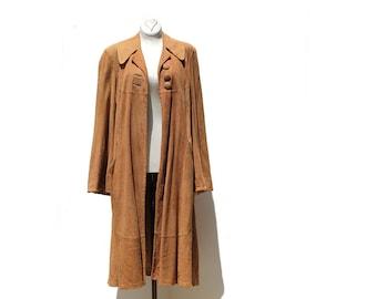 Copper Hide Soft Suede Coat