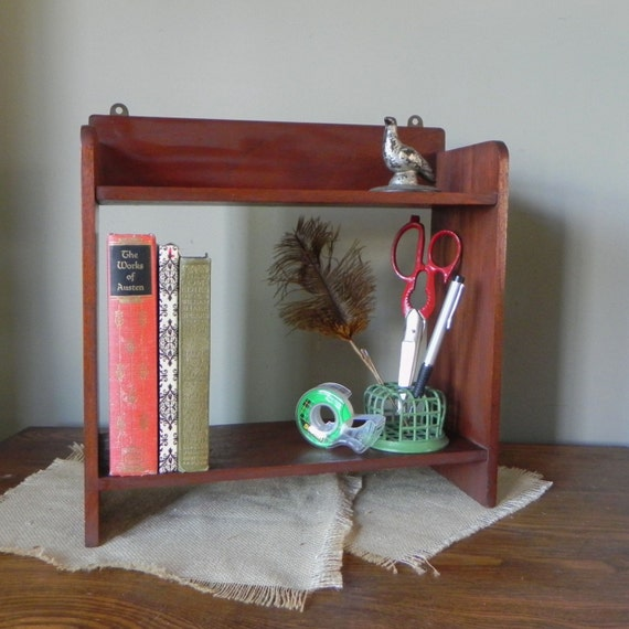 Vintage wood desk organizer sorter shelf with by jollytimeone - Desk organizer sorter ...