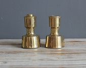 Jens H. Quistgaard for Dansk Brass Candle Holders.  Made in France