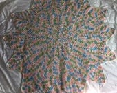 """42"""" Star Crochet Afghan for Babies or Adults"""