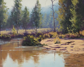 LISTED ARTIST Oil PAINTING Landscape Painting landscape trees by G.Gercken