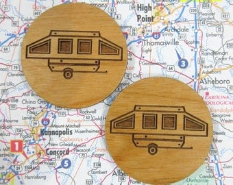 Pop Up Camper Magnets, Pop Up Camping Trailer, Pop Up, Pup Camper, Travel Trailer, Camping Kitchen, Camper Decor, Camping Gift, Glamper