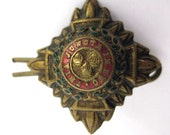 Vintage Canadian enameled military Officers Pip circa ww2 pin