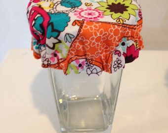 Wine Glass Soda Can Reusable Covers Cup Drink Cozy Orange Turqoise Summer