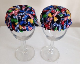 Reusable Wine Cup Glass Cover Fireworks Firecracker Fabric