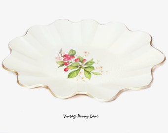 Vintage Florentine Bowl, Cherries / Cherry Blossom