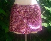 Pink glitter leopard Hot Shorts Size M L