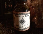 MENTAL FOCUS Spell Oil . Old World Alchemy . Pagan Wiccan