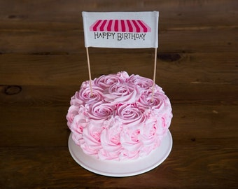 Pink Sweets Cake Banner