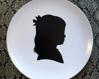 Featured Silhouette Melamine Plate