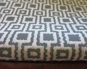 Grey Ikat Inspiration - Hand printed cotton fabric - Half Yard