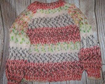 hand knit  sweater toddler size 1  - 2 - lightweight