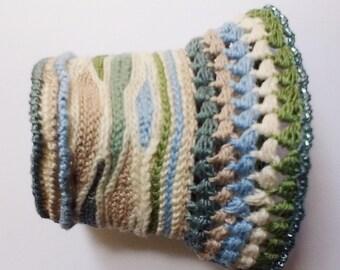 OOAK Freeform Crochet Cuff