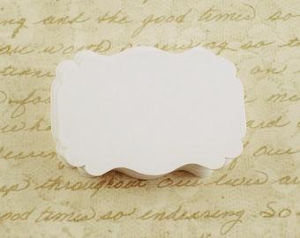 50 Paper Die Cut  Bracket Cards in  Snowy  White