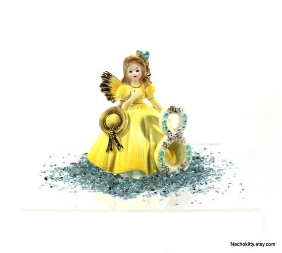 8th Birthday Fairy Angel Josef Original Porcelain Girl