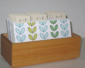 Address Card File…Bamboo...Address Book...Wedding Guest Book Alternative...Printed Address Cards