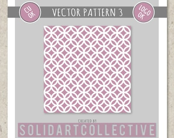 Vector Pattern 3 - ok for Logos, Merchandising, Commercial, Invitations and More!