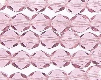Czech Firepolish Beads 6mm Light Amethyst 17567 , Purple Glass Beads, Czech Glass Beads, 6mm Firepolish Bead, 6mm Faceted Beads, Jablonex