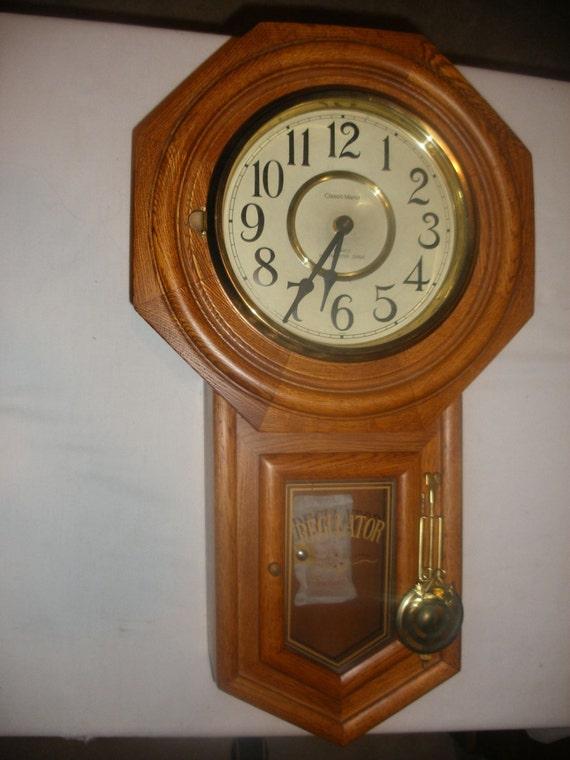 Vintage Regulator Classic Manor Quartz Battery Wall Clock With