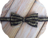 Black Sheet Music Bow Tie >> Mens Boys Baby Graduation Gift Birthday Show Party Groomsmen Father Son Musician Teacher Prom Black and Gold