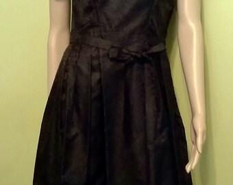 Originial Vintage Black Silk Dress Size Small 1956