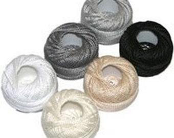 Perle Cotton sz 8- Neutral Sampler