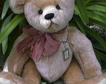 """Allen a 17"""" Teddy Bear pattern by Linda Johnson of BEARDEAUX BEARS"""