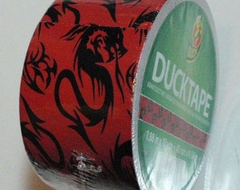 Duck Tape Roll Red Dragons Very Rare and Discontinued Best Price on the Net