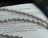 Claire's Pearl Necklace - Outlander Pearl Necklace - Diana Gabaldon Inspired - Outlander Wedding Necklace - Outlander Themed Jewelry