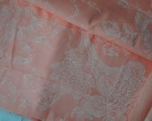 DESTASH- Peach Floral Fabric