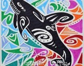 Swimming in a Sea of Madcappery Art Drawing Animals Whale Orca Tribal