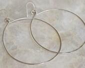 Silver Hoop Earrings, Large Silver Hoop Earrings, Hammered Silver Hoop Earrings, Light Weight Silver Hoop Earrings, Disco Hoops
