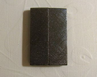 Magnetic Glue in Bar Clasp - Black Oxide Textured clasp 40x25x6mm (35.5x3.6mm id )