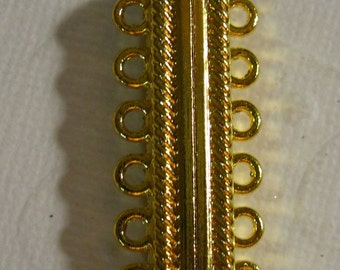 Magnetic Loop Clasp - Goldwith 6 strand,  33x6.9x14.3mm