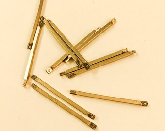26g  about 50 pieces of raw brass connector bar link 30x1.5mm make your own chain