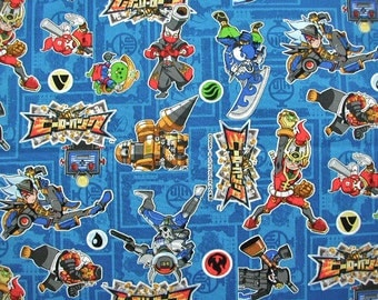 Licensed fabric  Hero Bank  Japanese fabric 50 cm by  106  cm or 19.6 by 42  inches Half meter ©SEGA