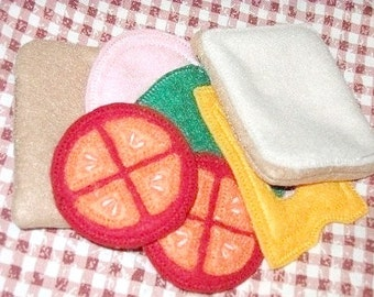 Play food  felt sandwich pretend felt food, Whats for lunch #PF2501